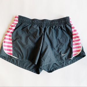 Nike Shorts - NIKE Black & Pink Athletic Shorts Medium